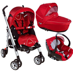 maxi cosi bebe confort loola oxygen red pram pushchair and car seat combo ebay. Black Bedroom Furniture Sets. Home Design Ideas