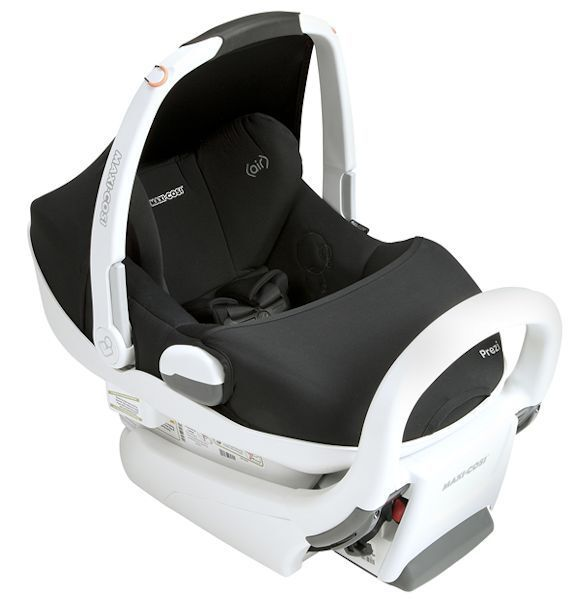 Maxi Cosi Prezi White Air Protect Infant Baby Car Seat w Base Devoted Black New