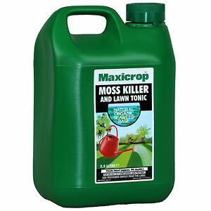 Maxicrop Concentrated Moss Killer And Lawn Tonic 2 5 Lt Ebay