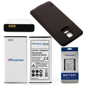 Mbuynow-Akku-Batterie-Accu-7500mAh-fuer-Samsung-GALAXY-S5-SM-G900F-Schwarz-Deckel