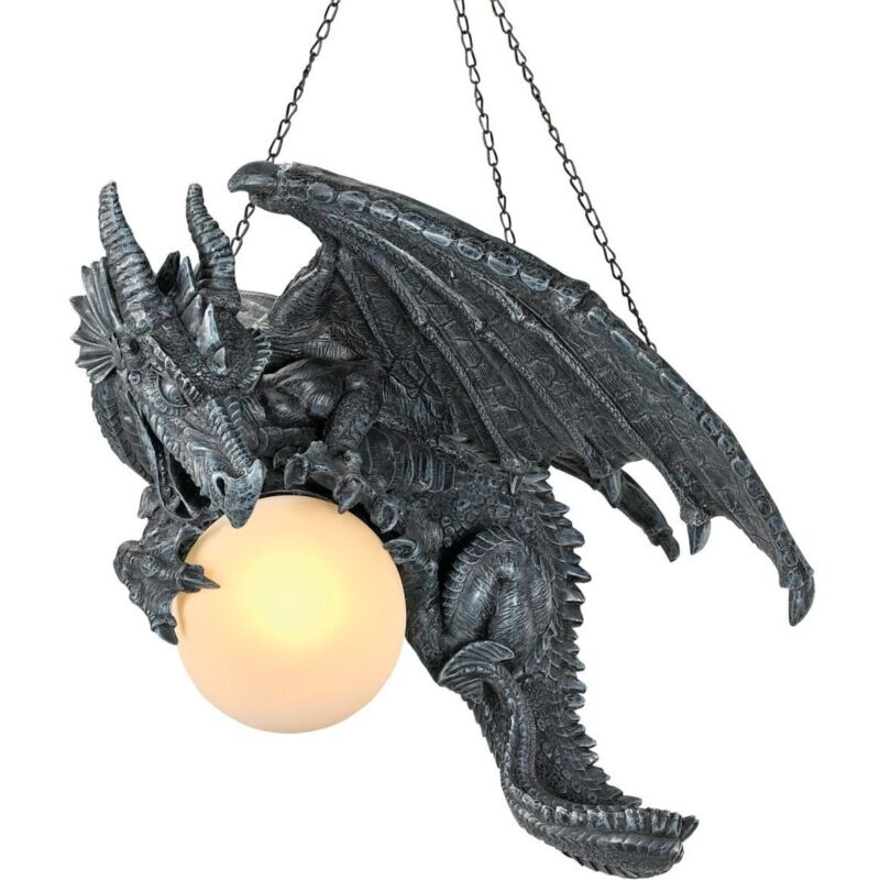Medieval Twilight Dragon Ceiling Light Gothic Home Decor