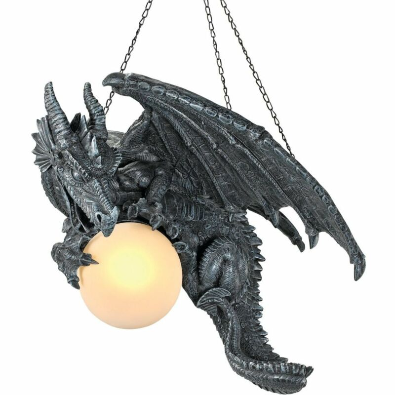 Medieval twilight dragon ceiling light gothic home decor - Dragon decorations for a home ...