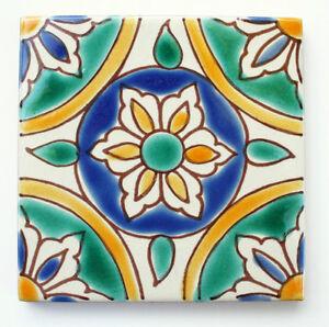 Mediterranean Spanish Ceramic Tiles Granada 4x 4 Ebay