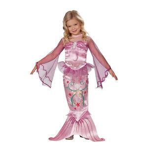 Meerjungfrau-Kostuem-Kinder-rosa-Meerjungfrauen-Kinderkostuem-Nixe-104-110-116-128
