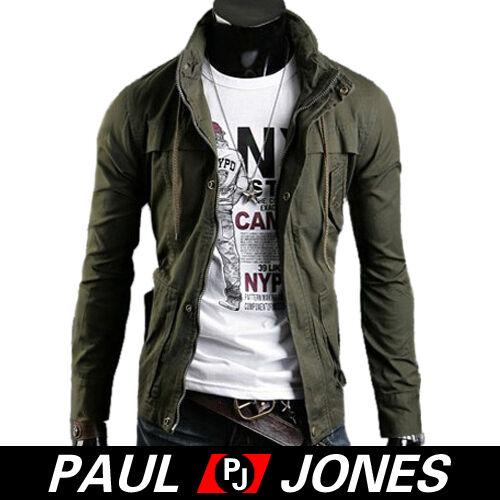 Men's Stylish Slim Fit Jackets Winter Casual Coats Winter Hoody Blk/Green/Coffee