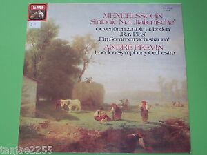 Mendelssohn-Previn-Symphonie-Nr-4-Sommernachtstraum-EMI-Club-LP