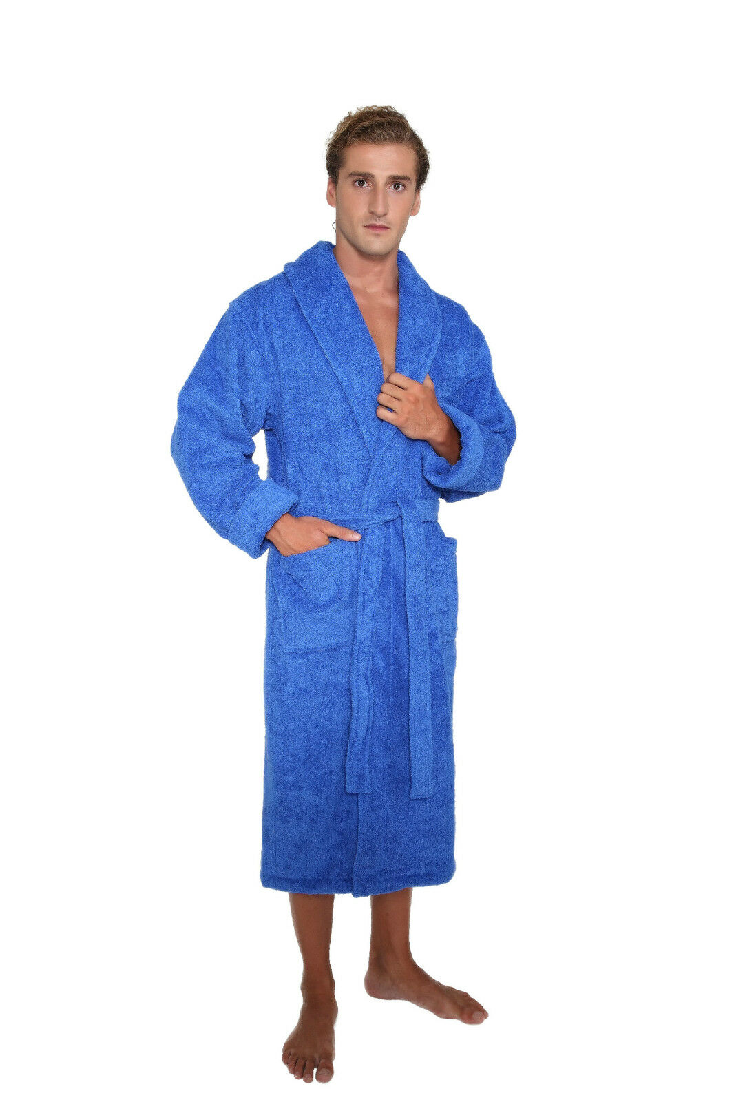 mens womens unisex luxury hotel bathrobe turkish cotton made in turkey robe ebay. Black Bedroom Furniture Sets. Home Design Ideas