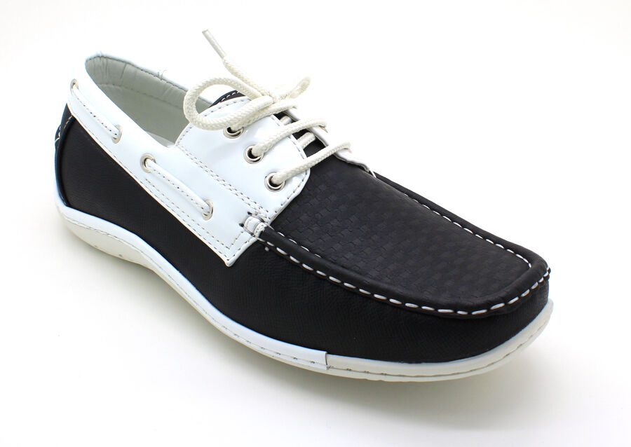 s casual leather lace up boat deck shoes rubber sole