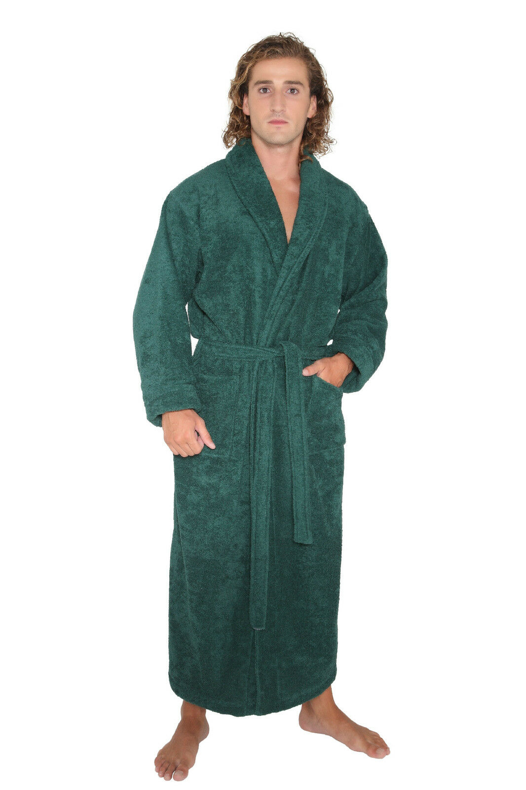 turkish bathrobe cotton terry full length long spa robe warm and thick. Black Bedroom Furniture Sets. Home Design Ideas
