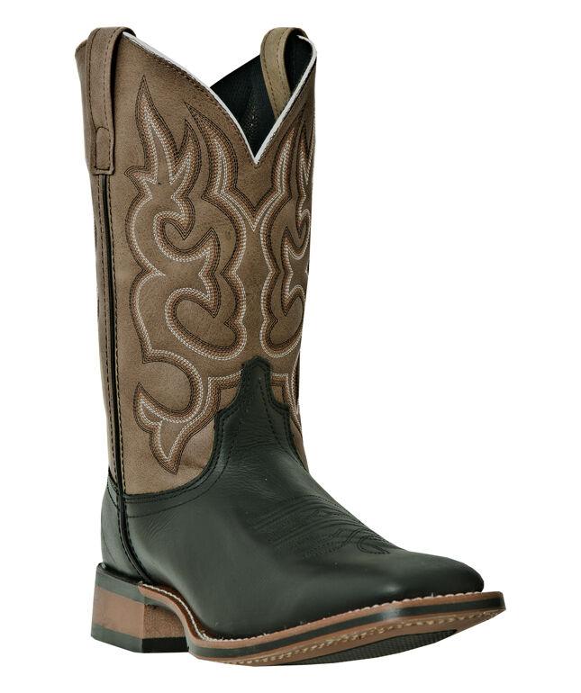 Mens Laredo Lodi Western Cowboy Boots Wide E w Broad Square Toe Black