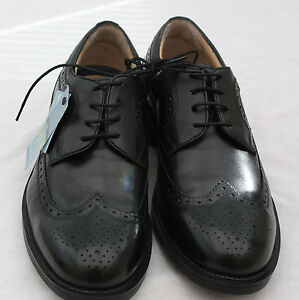 s marks and spencer airflex black lace up shoes size