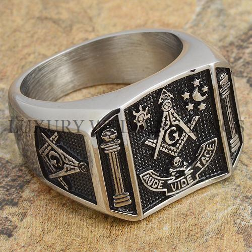 Mens Masonic Ring Square G & Pillars Master Mason Degree Rare Jewelry Size 9-12 in Jewelry & Watches, Men's Jewelry, Rings | eBay