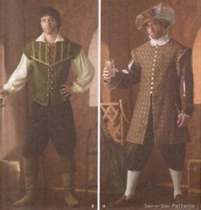 Mens-Medieval-Renaissance-Costume-SEWING-PATTERN-Hat