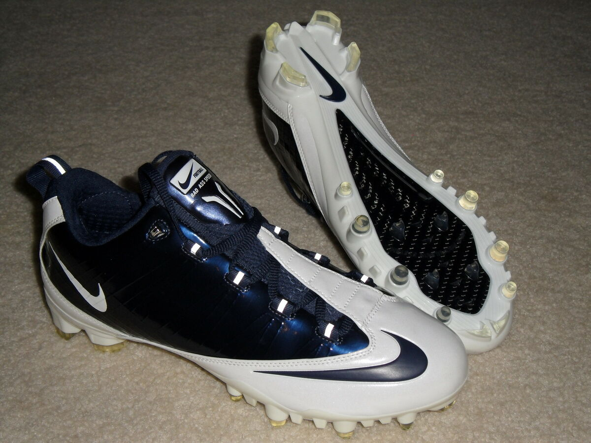 Mens Nike Air Zoom Vapor Carbon Fly TD Football Cleats Navy Blue White 6a8928b75