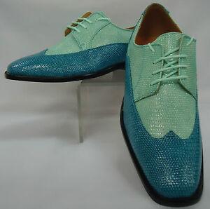 mens turquoise aqua teal mint green spectator wingtip