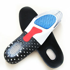 Men Gel Orthotic Sport Running Insoles Insert Shoe Pad Arch Support Heel Cushion