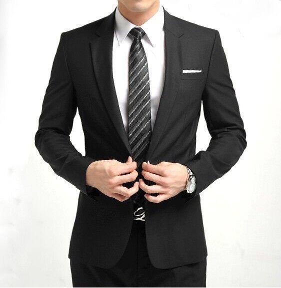 Mens Fashion Casual Slim Fit Suit Pop Blazer Coat Jacket 4 Color 5 Sizes