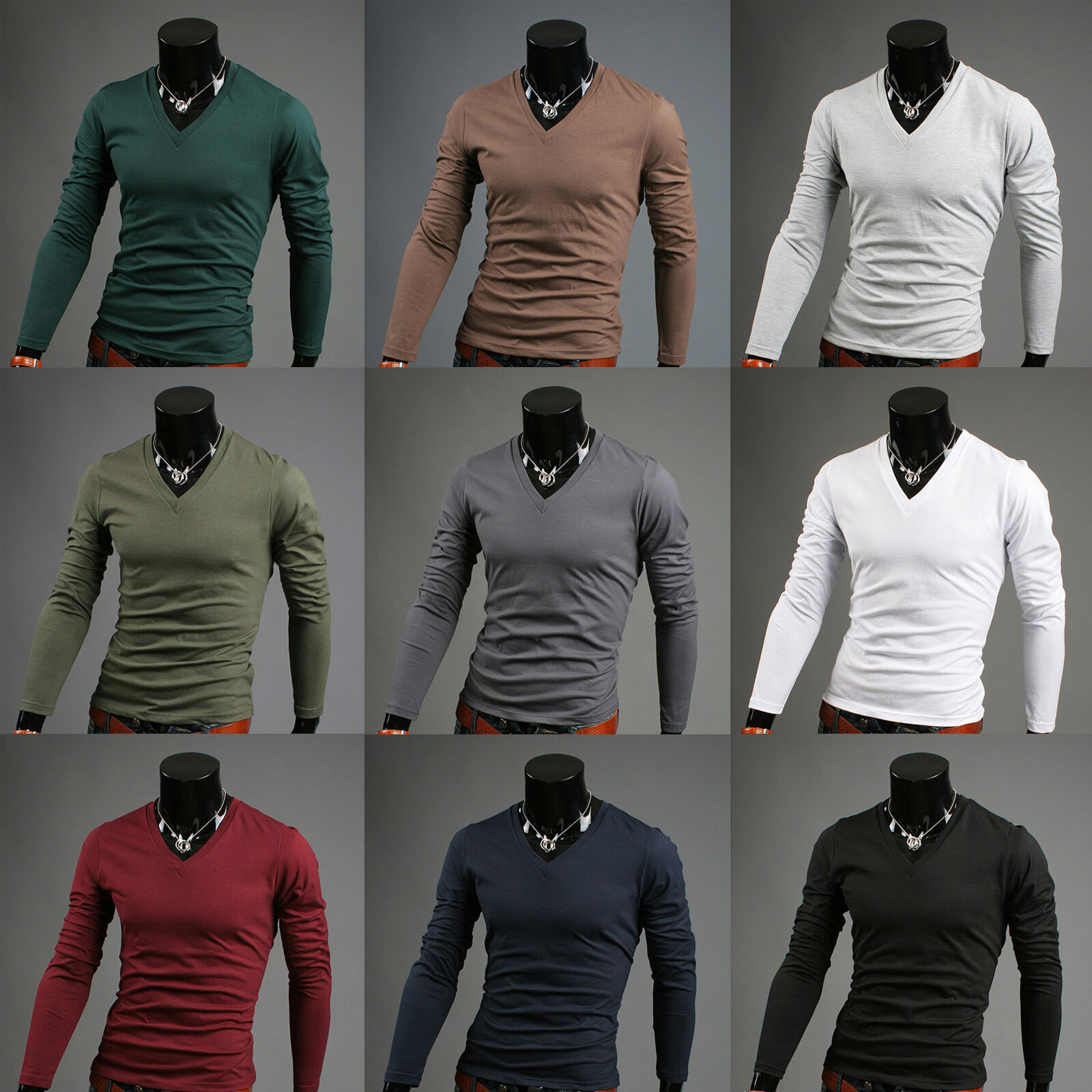 Music mens turtleneck hoodie cotton turtle polo neck sweaters jumper US Sz S M