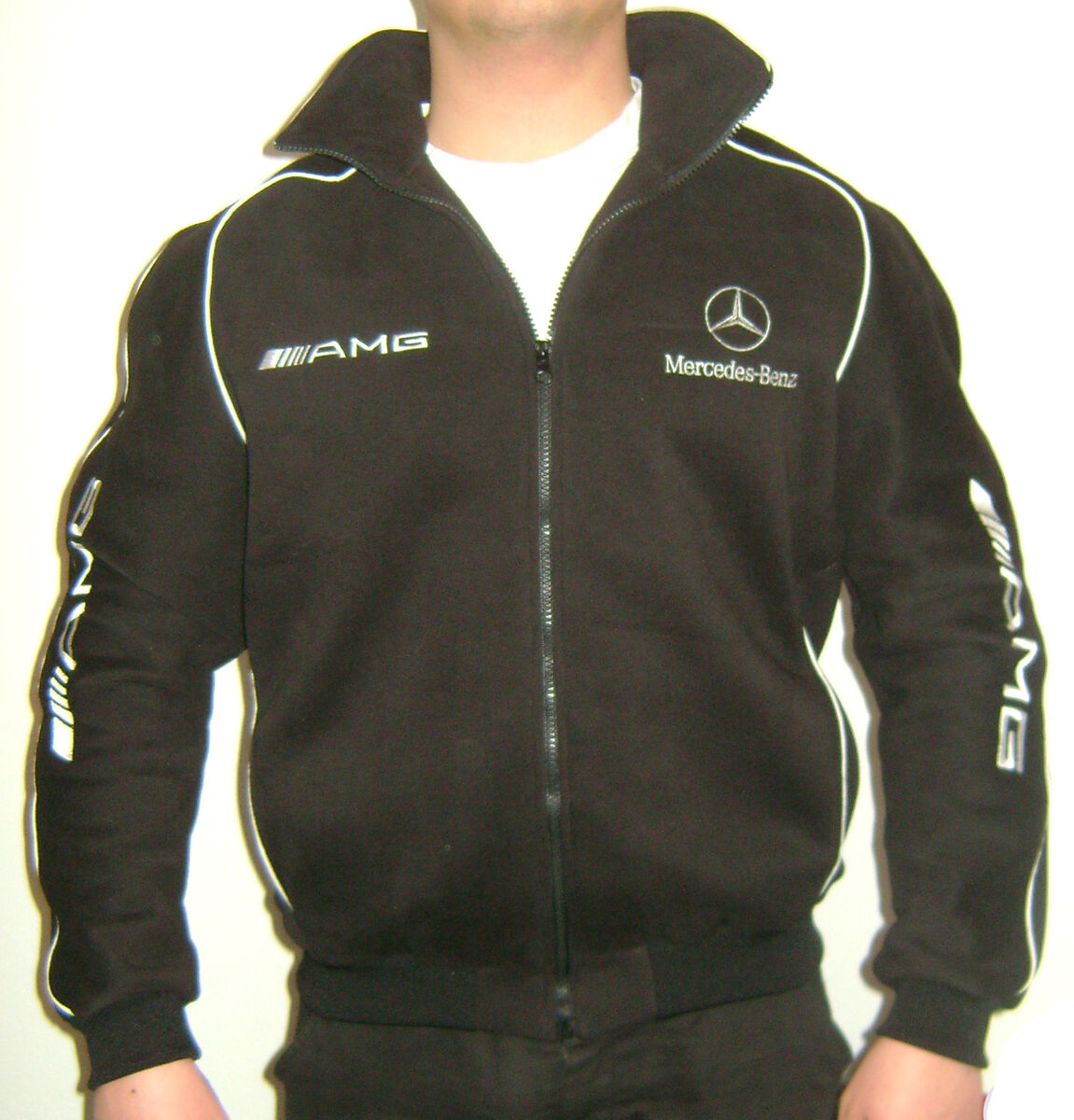 mercedes benz amg jacket fleece material