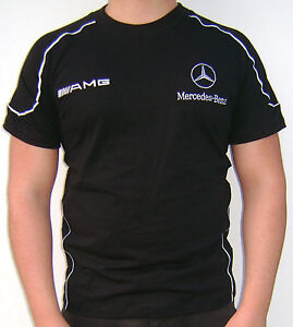 Mercedes benz amg t shirt custom embroidered ebay for Mercedes benz clothes and accessories