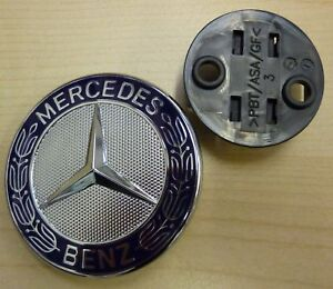 Mercedes benz hood bonnet badge flat bonnet badge star ebay for Mercedes benz bonnet badge
