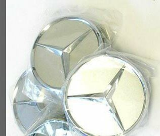 Mercedes Benz Logo Sticker Wheel Rim Center Cap Emblems