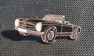 Mercedes-Benz-Pin-Pagode-SL-W123-schwarz-lackiert-Masse-39x17mm
