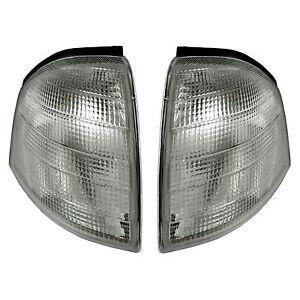 Mercedes-C180-280-W202-Blinker-weiss-93-00-NEU-SET-L-R-Blinkleuchte