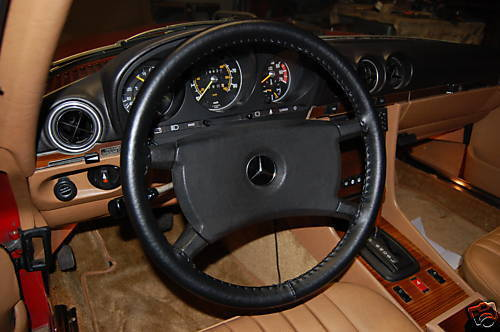 Leather steering wheel cover for mercedes for Mercedes benz steering wheel cover