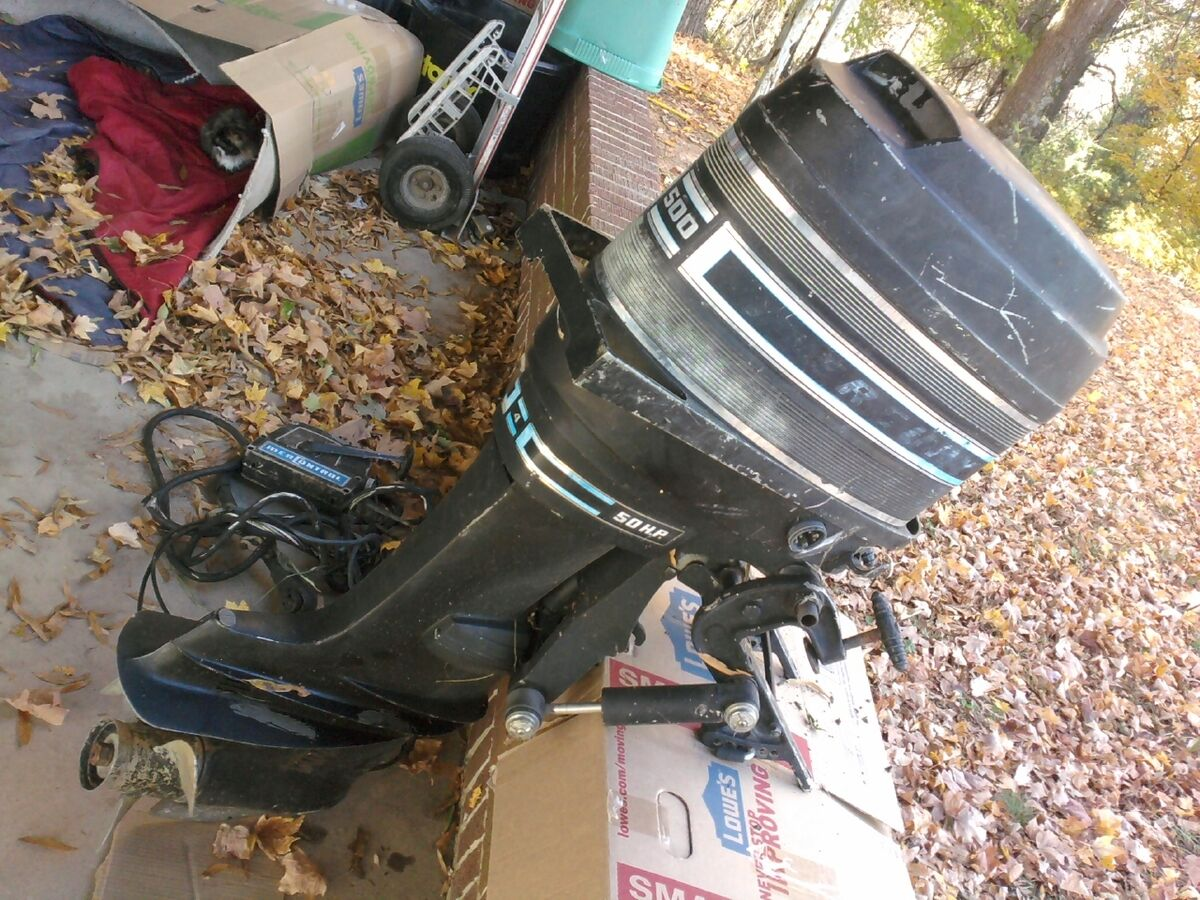 50 hp Mercury Outboard motor For sale Four Stroke Manual