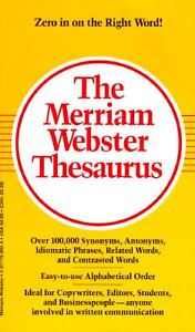 The Merriam-Webster Thesaurus by Inc. St...