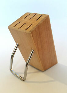 messerblock ohne messer holz 6 x 15cm aufbewahrung massiv f r 6 messer universal ebay. Black Bedroom Furniture Sets. Home Design Ideas