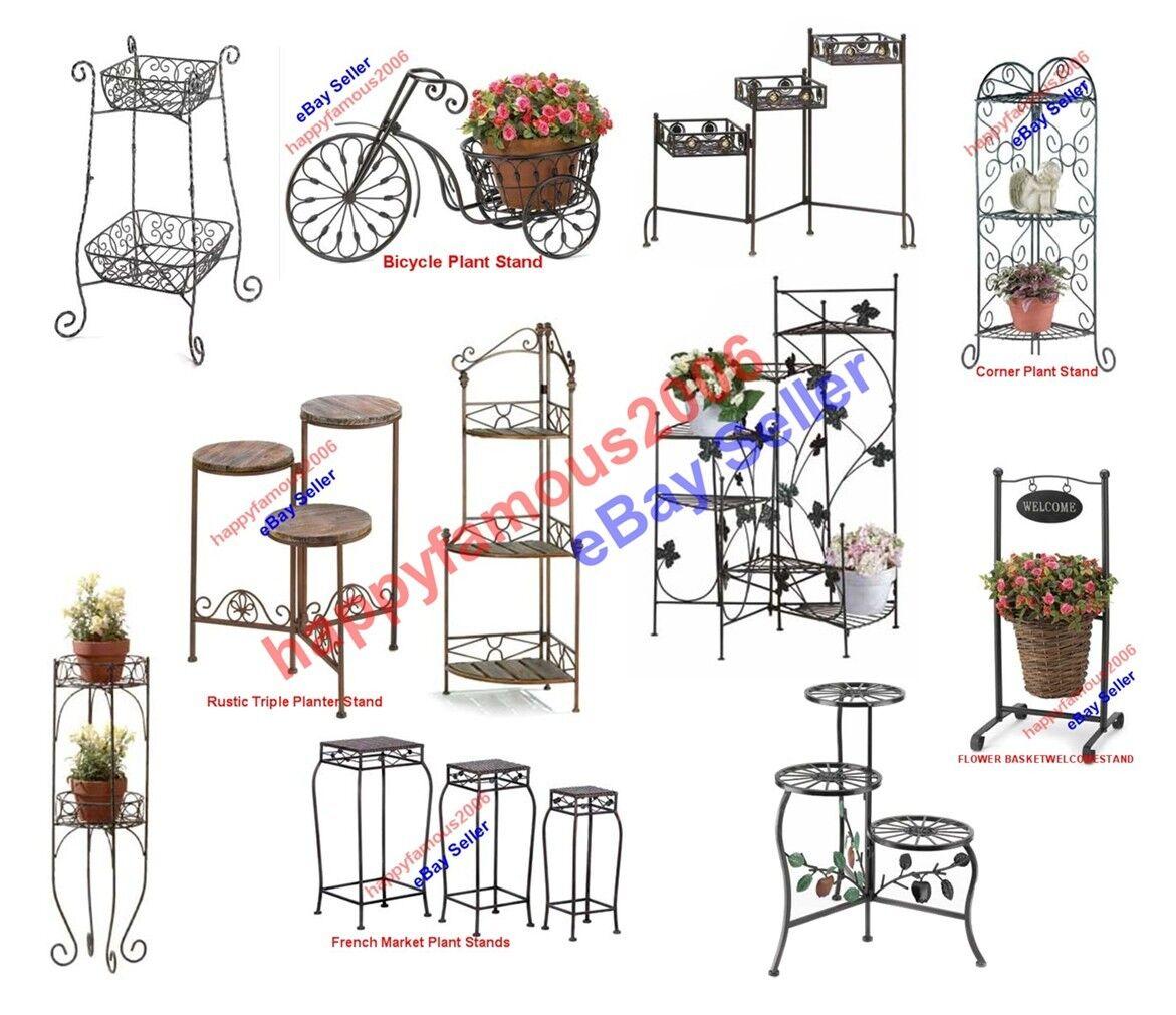 Metal Iron Planter Plant Stand Home Decor Indoor Outdoor Yard Garden