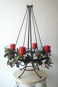 metall antik st nder adventskranz decken leuchter 75cm ebay. Black Bedroom Furniture Sets. Home Design Ideas
