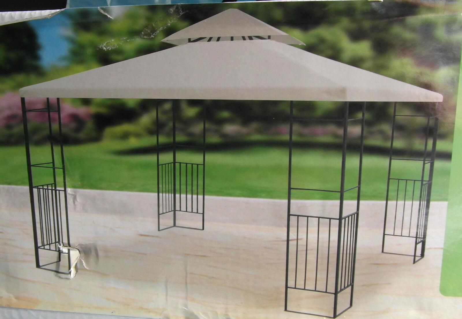 Metall garten pavillon mit haubenl ftung metall pavillon neu ovp ebay - Garten mit pavillon ...