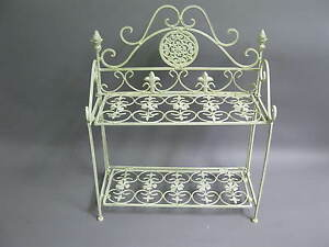 metall regal badregal 49cm x 41cm x 17cm tief kleines regal schuhregal chabby ebay. Black Bedroom Furniture Sets. Home Design Ideas