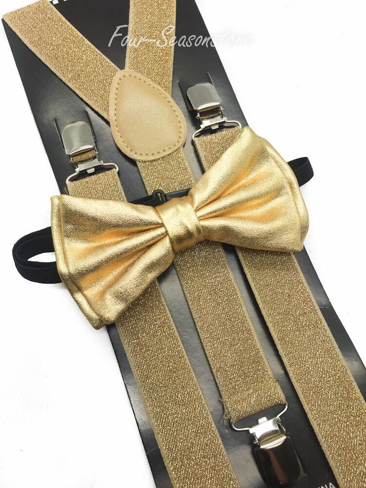 Metallic Gold Bow Tie Amp Matching Suspender Tuxedo Wedding