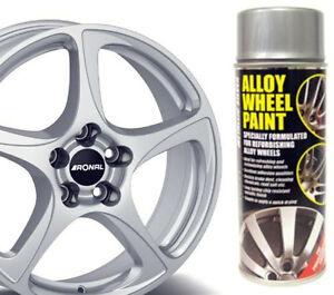 metallic silver e tech car alloy wheel spray paint 400ml can chip. Black Bedroom Furniture Sets. Home Design Ideas