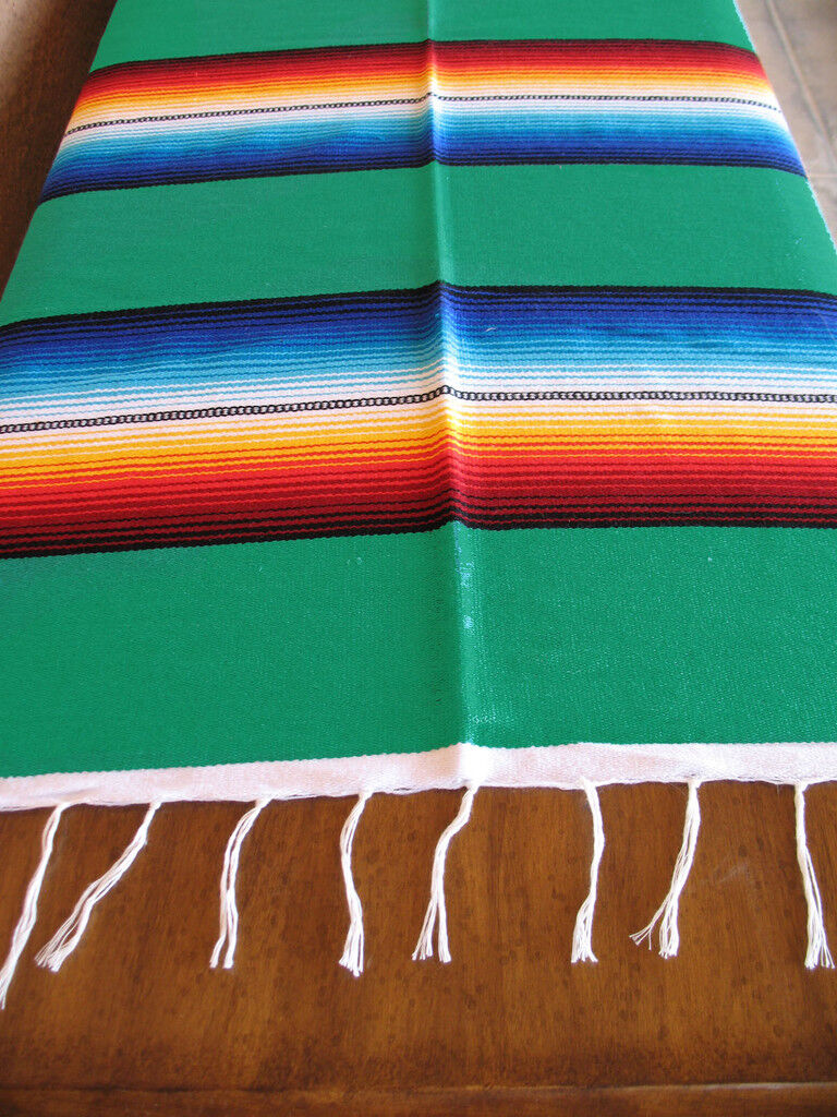 mexican serape blanket table cover seat cover throw. Black Bedroom Furniture Sets. Home Design Ideas