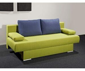 schlafsofa sofa funktionssofa gaestesofa gruen blau ca 196 cm breit. Black Bedroom Furniture Sets. Home Design Ideas