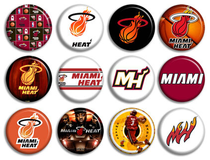 Miami Heat Basketball NBA Buttons Pins Badges New Collection
