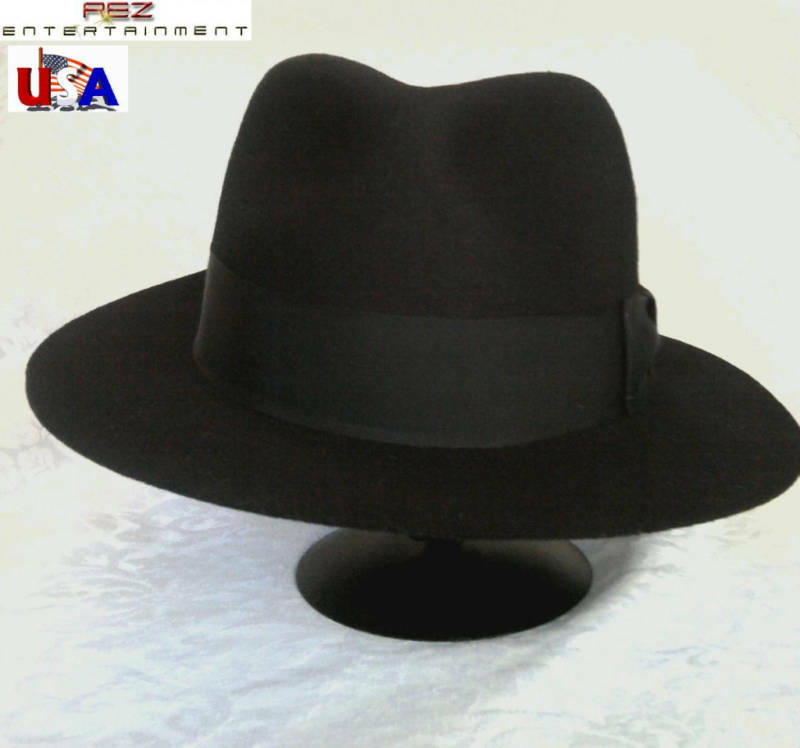 Michael Jackson Billie Jean Style Black Fedora Hat