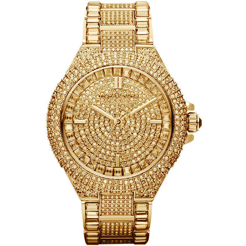Michael Kors MK5720 Gold-Tone Swarovski Crystal Women's Camille Glitz Watch