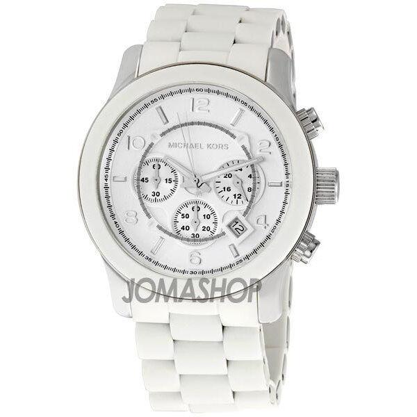 Michael Kors Runway White Chrono Mens Watch MK8108