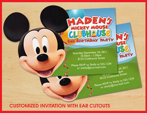 Mickey Mouse Clubhouse Birthday Invitations Personalized is an amazing ideas you had to choose for invitation design