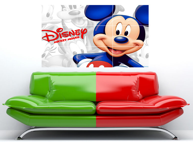 69e4fee41a3 Mickey Mouse Disney Large Wall Art Poster 36x24 +dots on PopScreen