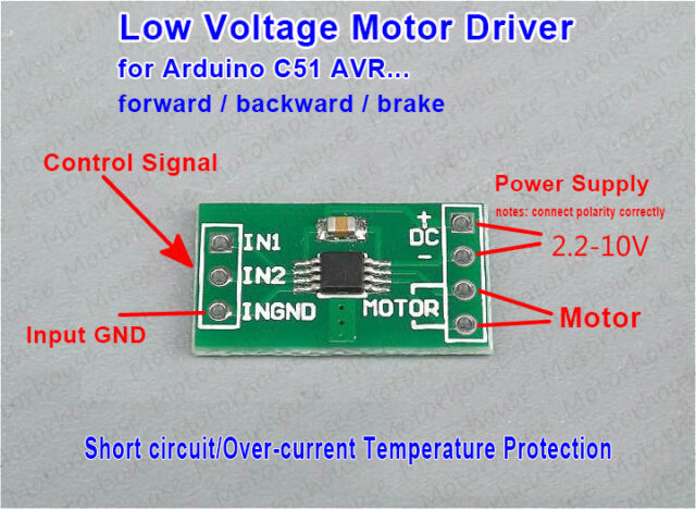 Details about 3 3v 5v Mini DC Motor Driver Controller Board Module  Reversible Brake F Arduino