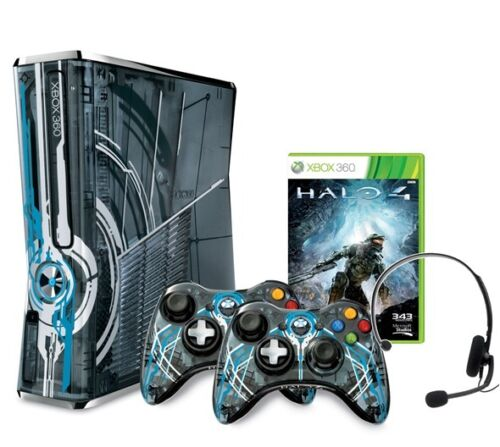 Microsoft XBOX 360 Halo 4 320GB Limited Edition System w/Halo 4 & 2 Controllers in Video Games & Consoles, Video Game Consoles | eBay