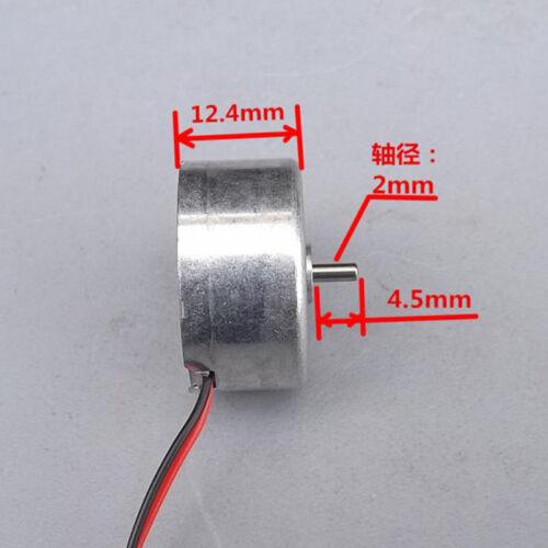 DC 1.5V-6V 3V 5V 6000RPM Micro Mini 300 Solar Power Motor Round Thin Toy Motor