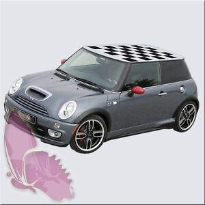 mini cooper dach schachbrett karo aufkleber racing flag ebay. Black Bedroom Furniture Sets. Home Design Ideas
